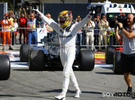 Hamilton asalta el Mundial con la victoria en Italia; Sainz 14º, Alonso KO