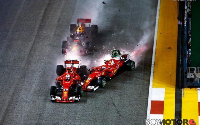 Hamilton gana en Singapur y Vettel se deja medio Mundial; Sainz brilla con el 4º