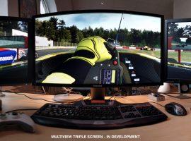 Al fin soporte nativo para la triple pantalla en RaceRoom