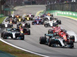 Hamilton gana en Brasil, Ocon arruina la victoria de Verstappen