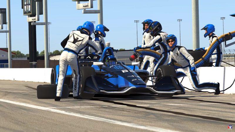 Llegan los pitstops animados al IndyCar